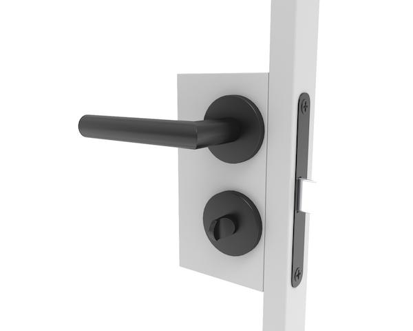Deurbeslag voor stalen deuren van badkamer en toilet