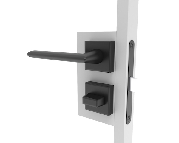 Deurklink met slot voor stalen deuren in badkamer en toilet