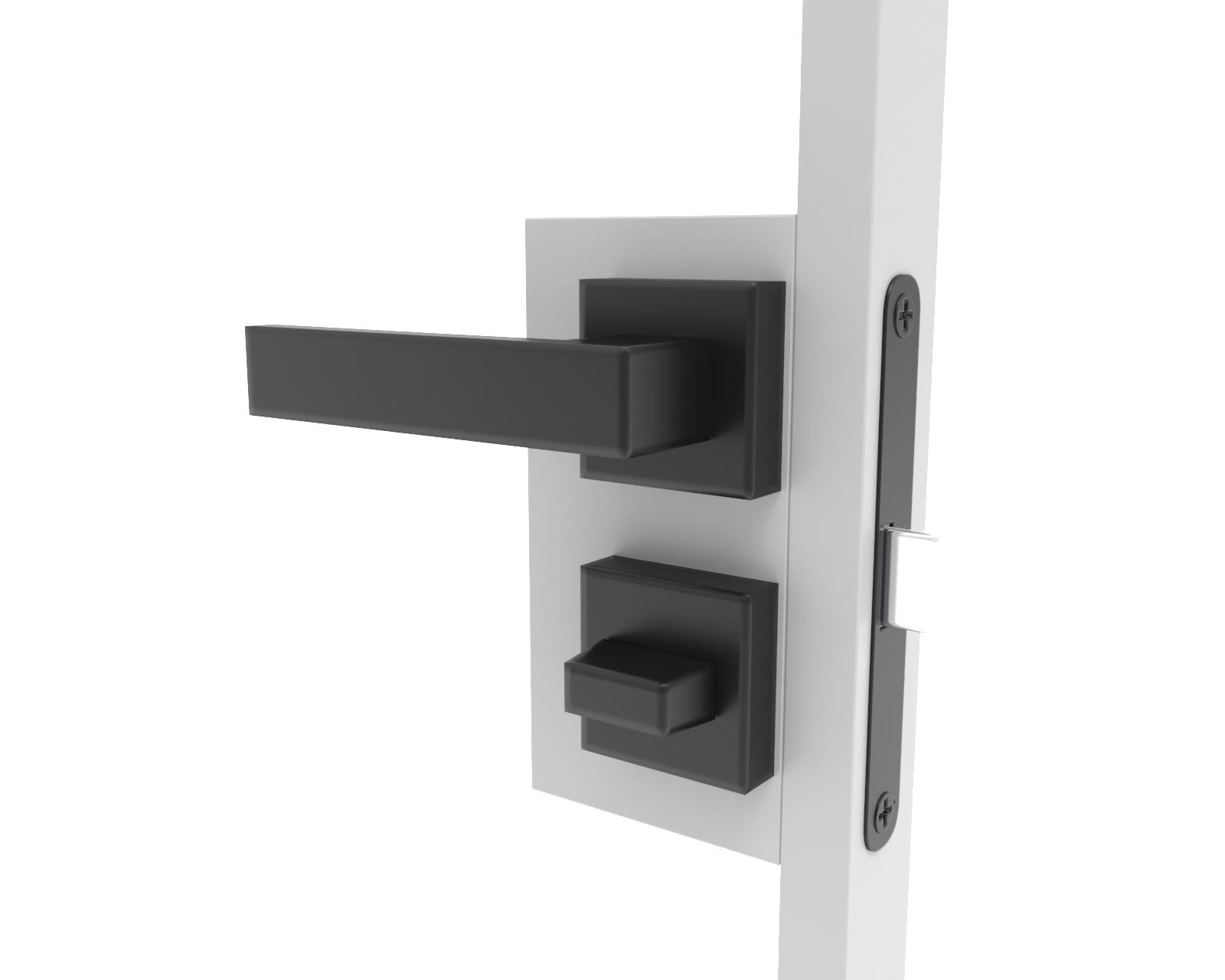 Deurbeslag met slot voor stalen deuren in badkamer en toilet