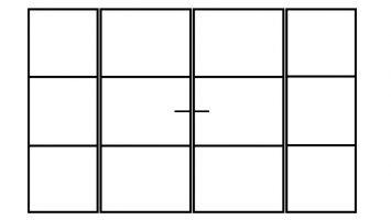Zwart stalen kozijn met dubbele deur en vaste glazen wanddelen voor binnen