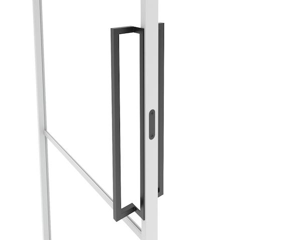 Stalen design deurgreep met magneetslot voor stalen kozijnen binnen